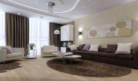 Интерьер зала: красивое оформление гостиной в небольшой квартире