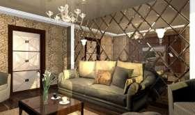 Зеркала в интерьере гостиной: креативное оформление комнаты