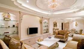 Красивый классический дизайн потолков из гипсокартона