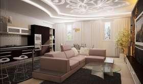 Как сделать красивый потолок в зале: варианты дизайна