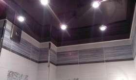 Навесной потолок в ванной комнате