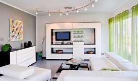 Красивый интерьер гостиной в современном стиле
