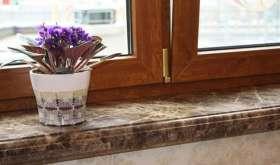 Подоконники из натурального камня: преимущества и что нужно знать при установке