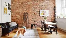 Кирпичная стена в интерьере: подбор стиля и особенности дизайна