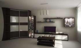 Современный шкаф-купе в гостиную