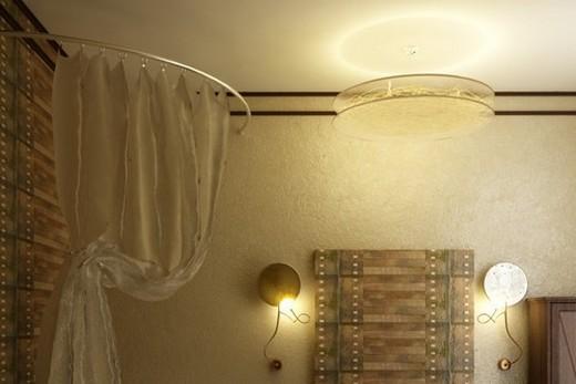 Лптимальный вариант - 2-3 осветительных прибора на ванную комнату