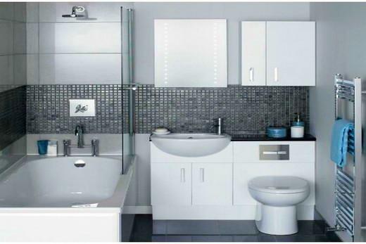 Четвертая идея зонирования ванной комнаты с помощью цвета