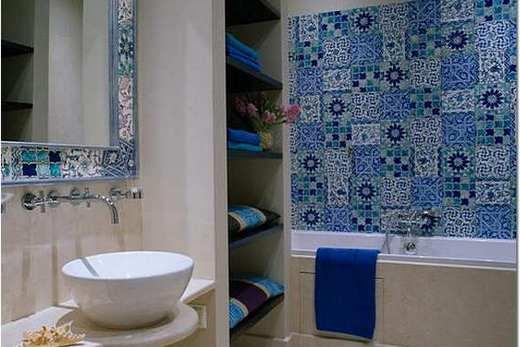 Майолика в ванной комнате