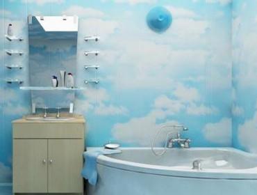 Отделка ванной комнаты панелями ПВХ, фото