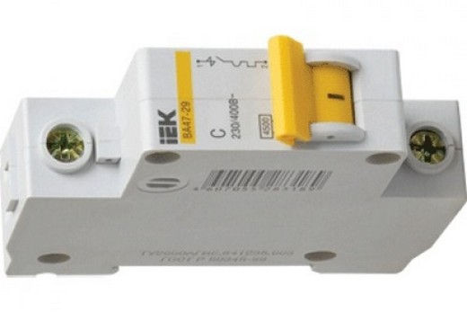 Автоматический выключатель на 10 А всегда используют для освещения