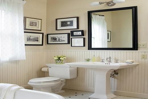 Первый вариант освещения ванной, совмещенной с туалетом
