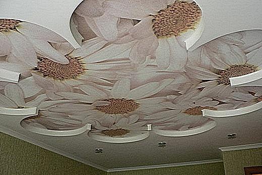Сатиновые потолки отлично подходят для декорирования методом фотопечати