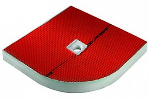 Aqua-Board Round душевой поддон красно-белого цвета с антискольжением