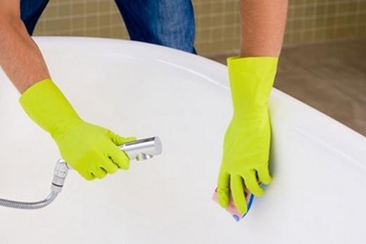 Мытьё акриловой ванны жидкими средствами