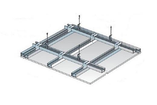 Монтаж каркаса пластикового потолка в ванной комнате