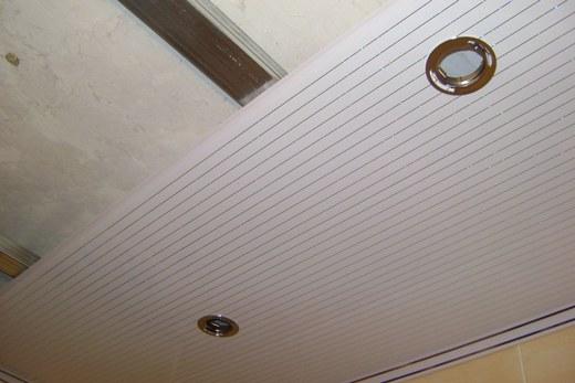 Металлический каркас для пластикового потолка в ванной комнате