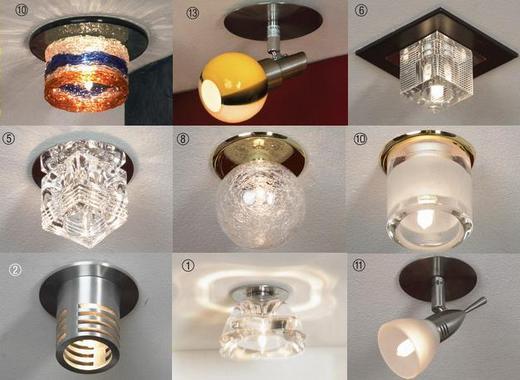 Разновидности встраиваемых светильников