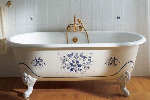 Чугунные ванны отличаются приличным весом