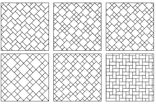 Модульный вариант укладки плитки