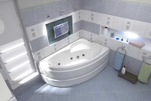 Акриловая российская ванна Сагра