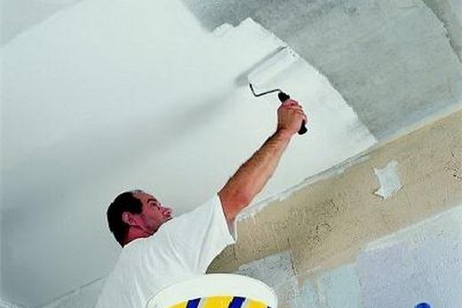 Покраска потолка из гипсокартона в 3 слоя
