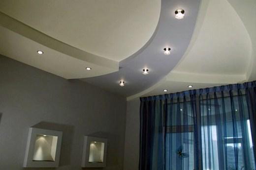 Многоуровневый потолок из гипсокартона с подсветкой