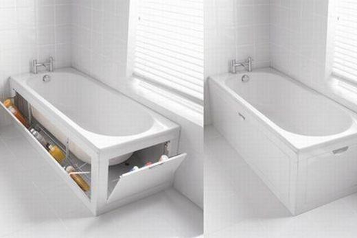 Пластиковый экран под ванну открывается на себя