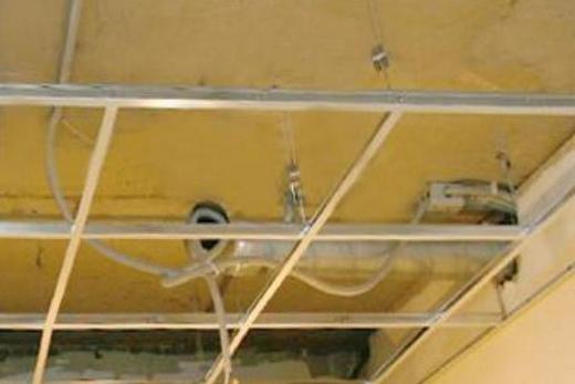 Электропроводка в подвесном потолке