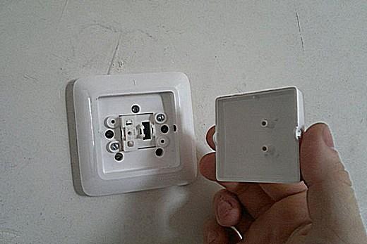 Съём крышки выключателя