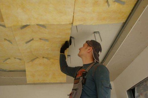Установка дополнительного подвесного потолка