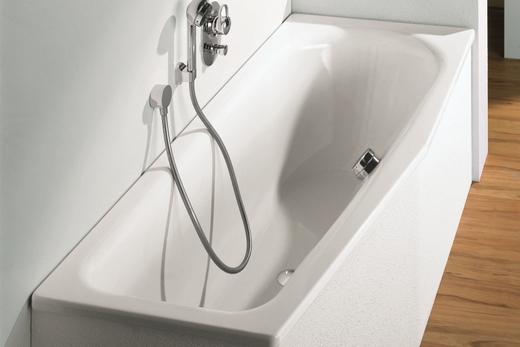 ассиметричная металлическая ванна