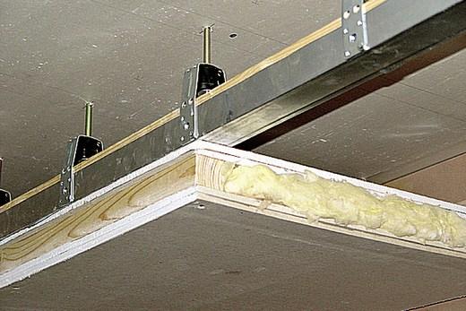 «Начинка» на потолке из гипсокартона