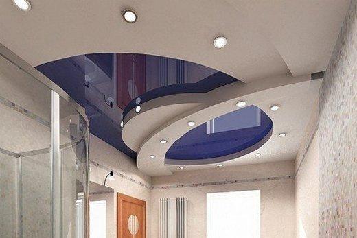Потолок из гипсокартона оригинального дизайна