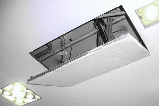 Сантехнические люки в потолке из гипсокартона