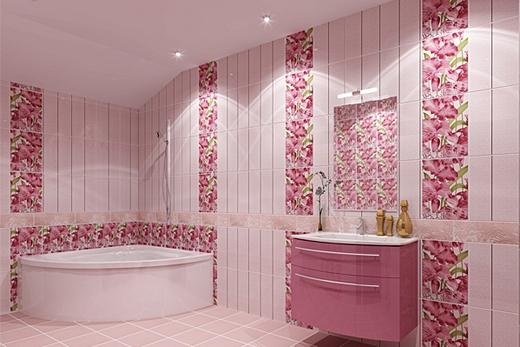 В небольших помещениях стены и потолок лучше красить в один цвет
