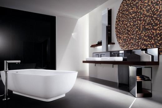 Освещение ванной комнаты в стиле «модерн»