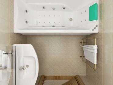 Дизайно малогабаритной ванной комнаты