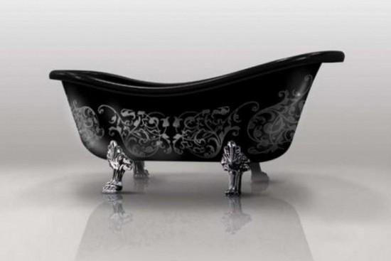 Черная ванна для черной комнаты