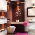 Плиточная облицовка в ванной комнате