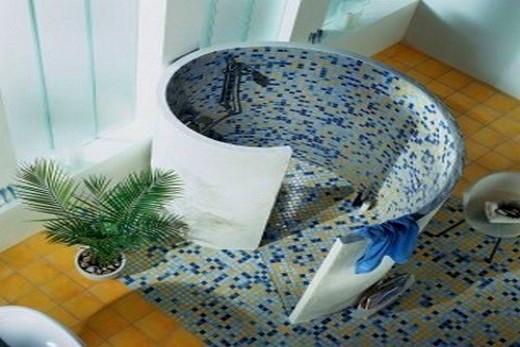 Душевая кабинка спиралевидной формы