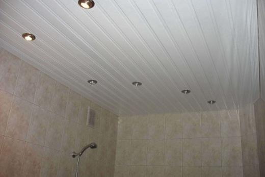 Дешевый вариант реечных потолок