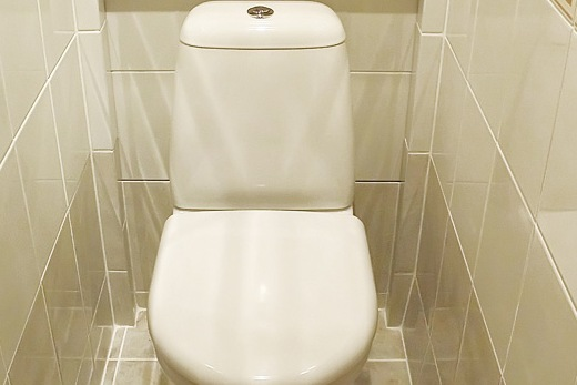 Интерьер небольшого туалета