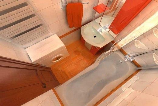 Ванная комната узкого вида