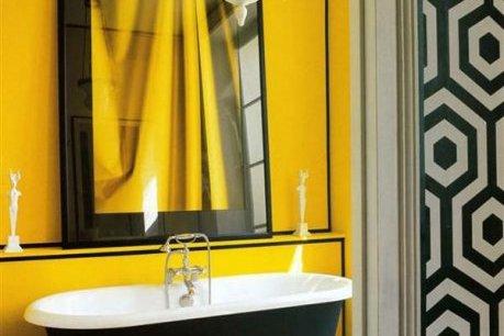 фото 28 черно желтая ванная
