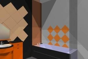 фото 30 черно оранжевая ванная