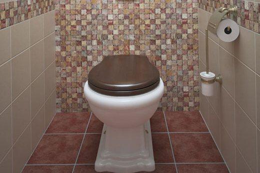 Унитаз в небольшом туалете