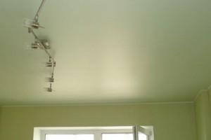 Незатейливый натяжной потолок для оформления зала в японском стиле