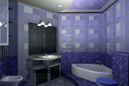 Отделка ванной мозаикой и плиткой