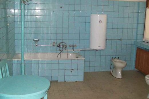 Санузел в сталинке с автономным водонагревателем