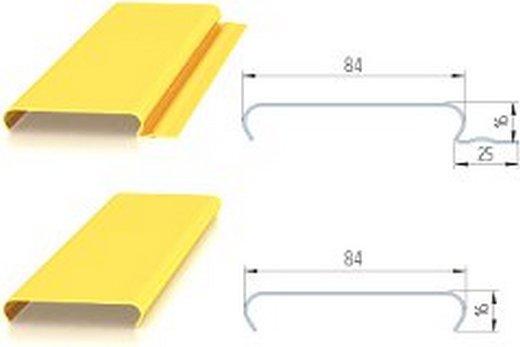 «Открытый» и «закрытый» виды реек для реечного потолка в ванной